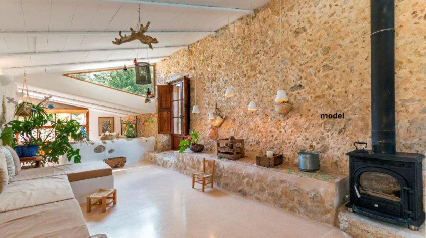 Reforma casa de pueblo con piscina y jardín Costitx Mallorca